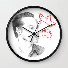 Miss Me ? Sherlock TV Wall Clock