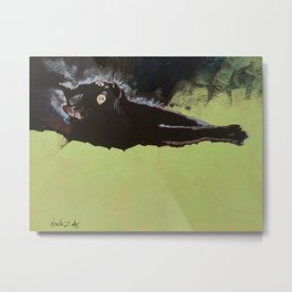 Black Cat Etude I Metal Print