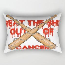 beating cancer Rectangular Pillow