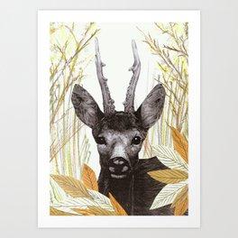 among the leaves (morning) Art Print