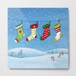 Christmas stockings Metal Print