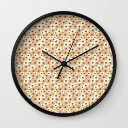 flowers pattern Wall Clock