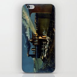 The Danger Signal: Train Scene, Currier & Ives iPhone Skin