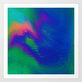 56-23-48 (Tree Rainbow Glitch) Art Print
