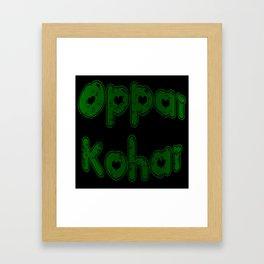 Oppai Kohai in Bubblegum Framed Art Print