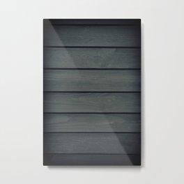 Gloomy dark graphite toned boards texture Metal Print