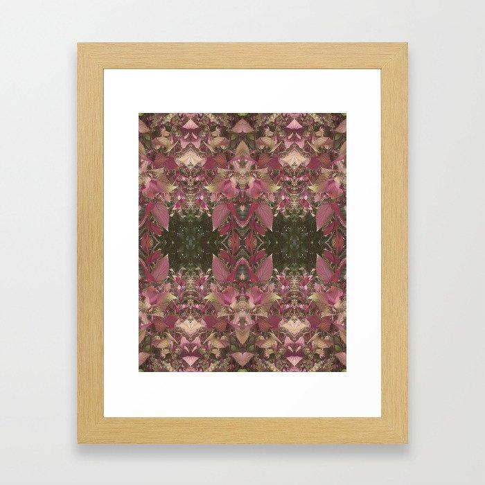Red Shiso Warm Tones Pattern Framed Art Print