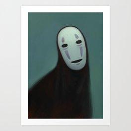 Noh Face Art Print