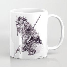 Ancient Warrior Monkey, pencil portrait Coffee Mug