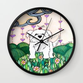 Cameo the Dog on a Hill Wall Clock