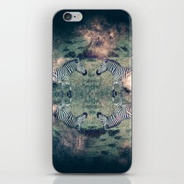 Galactic Zebra iPhone Skin