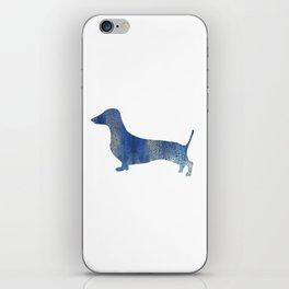 Blue Leopard  dachshund iPhone Skin