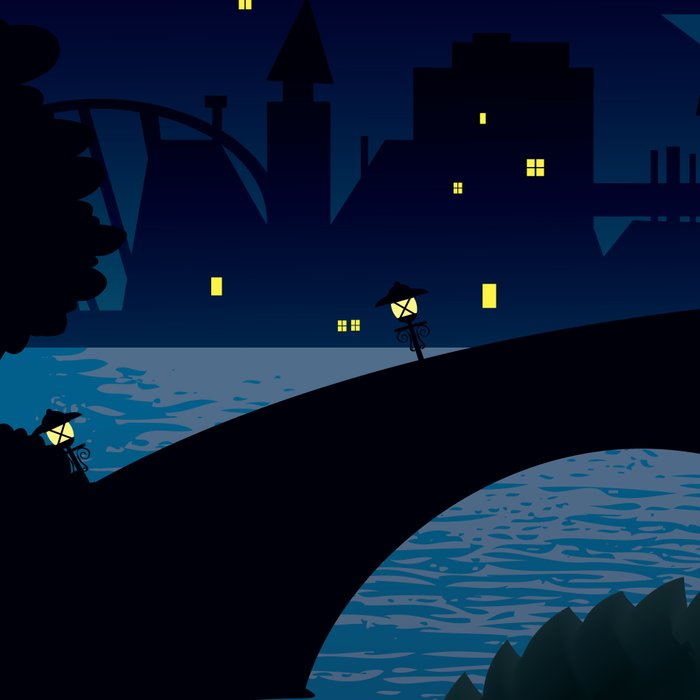 Hedgehogs in the night Leggings