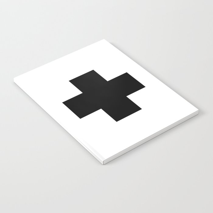 Black Swiss Cross Notebook