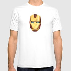 IronMan Fracture Mens Fitted Tee MEDIUM White