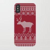 reindeer iPhone & iPod Cases featuring  Reindeer by Julia Badeeva