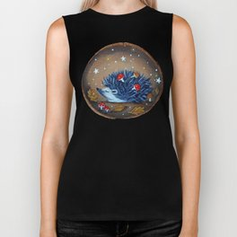 Magical Autumn Hedgehog With Forest Treasures Biker Tank