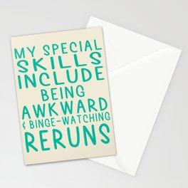 Special Skills | Binge-Watching Reruns Stationery Cards
