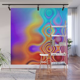 Dots in Motion (warm sunset) Wall Mural