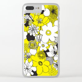 Floral Medley - Yellow Clear iPhone Case