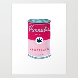 Cannabis Soup Art Print