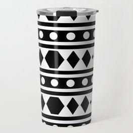 Black Tribal Pattern Travel Mug