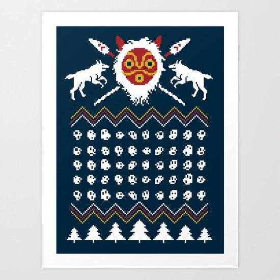 Ugly Mononoke Sweater Art Print