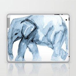 Elephant Sketch in Blue Laptop & iPad Skin