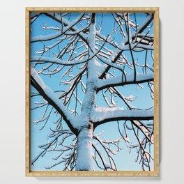 Crispy winter tree Serving Tray