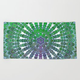 Spring Mandala Wheel Beach Towel
