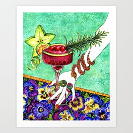 Summer Refreshment_star fruit cocktail Art Print