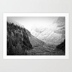Mountain Valley Fog Art Print