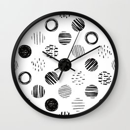 Black White Three Wall Clock