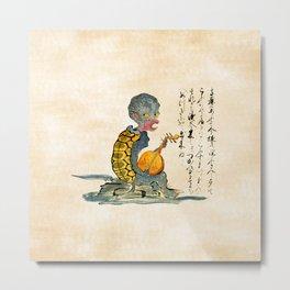 The Kappa - Kaikidan Ektoba Monster Scroll Metal Print