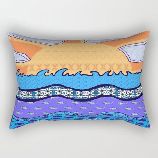 Sun on the Horizon Rectangular Pillow