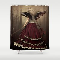 angels Shower Curtains featuring angels symphony by Ancello