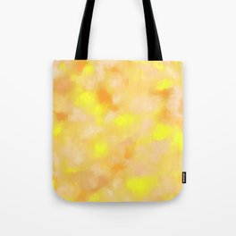 Yellow Liquid Gold Marble Abstract Tote Bag