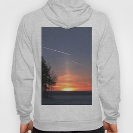 Flying at sunset Hoody