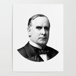 President William McKinley Graphic Poster