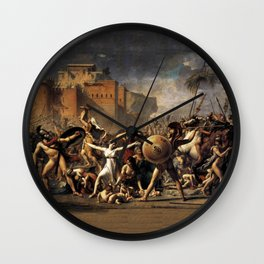 The Intercession of the Sabine Women Wall Clock