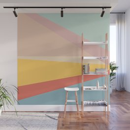 Retro Abstract Geometric Wall Mural