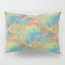 Rainbow Sparkles Leaves Flowers Pillow Sham