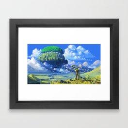 Castle in the sky Framed Art Print
