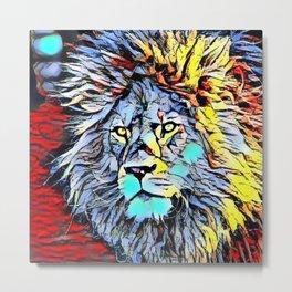 Color Kick Lion King Metal Print