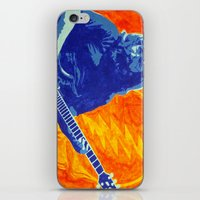 grateful dead iPhone & iPod Skins featuring Jerry Garcia - The Grateful Dead by Tipsy Monkey