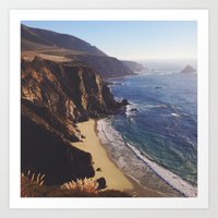 big sur Art Prints featuring Big Sur by Andrea Sobieski