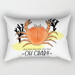 Oh Crab! Illustration Rectangular Pillow