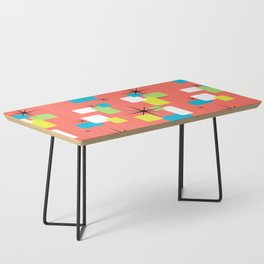 Living Coral Retro Inspired Coffee Table