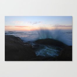 The rush at a sunset Canvas Print