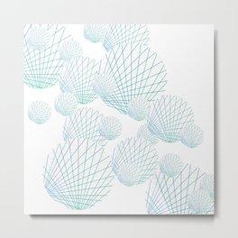 Shells Adrift Metal Print